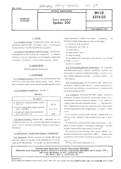 Żywice epoksydowe - Epidian 200 BN-78/6376-03