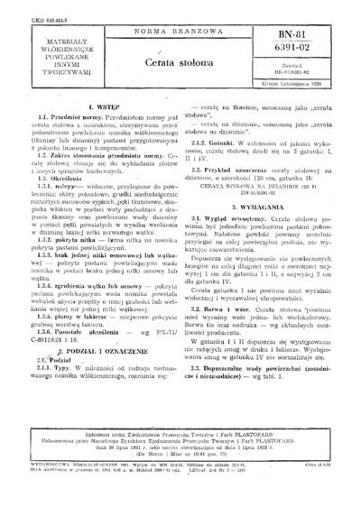 Cerata stołowa BN-81/6391-02