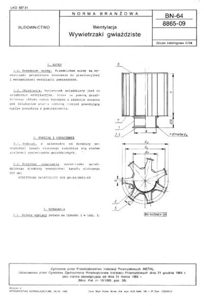 Wentylacja - Wywietrzaki gwiaździste BN-64/8865-09