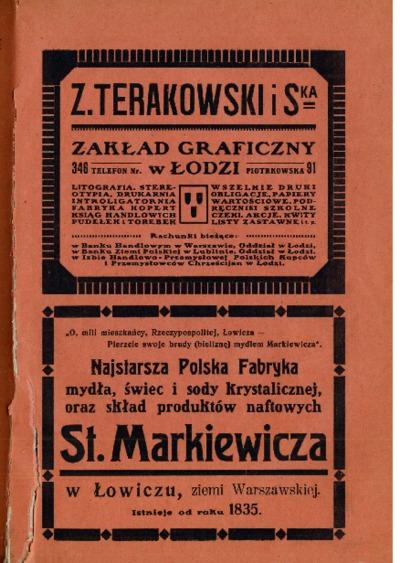 Informator m. Łodzi : z kalendarzem na rok 1920. R. 2 [Cz. 4]