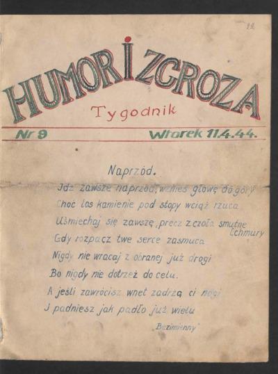 Humor i Zgroza : tygodnik. 1944-04-11 [R. 1] nr 9
