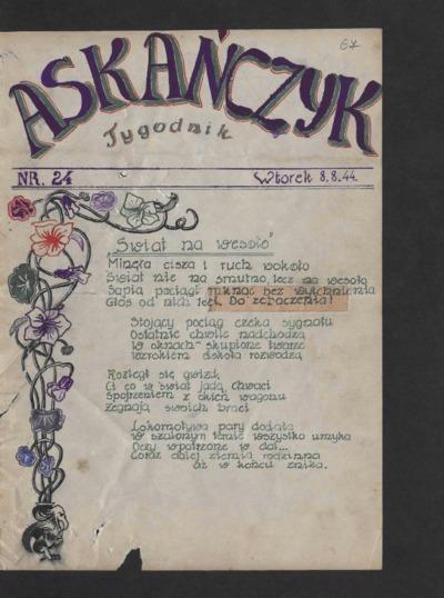 Askańczyk : tygodnik. 1944-08-08 [R. 1] nr 24