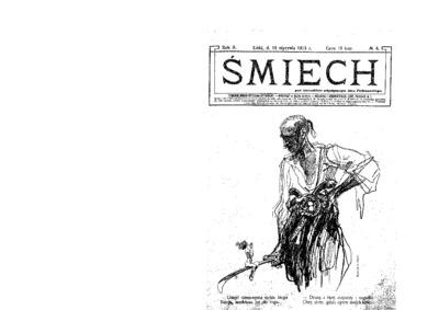 Śmiech : tygodnik humorystyczno-satyryczny : wychodzi w każdą sobotę. 1913-01-18 R. 2 no 4