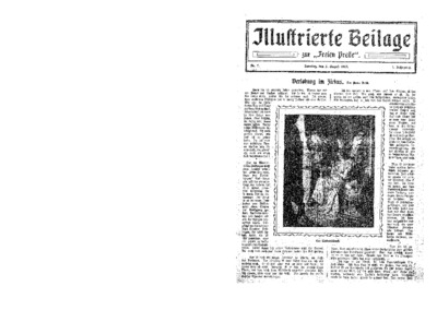 Illustrierte Beilage : zur Freien Presse. 1923-08-05 1. Jg nr 7