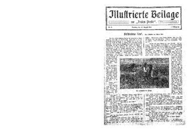 Illustrierte Beilage : zur Freien Presse. 1923-08-12 1. Jg nr 8