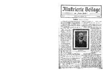 Illustrierte Beilage : zur Freien Presse. 1923-09-16 1. Jg nr 13