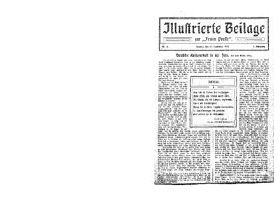 Illustrierte Beilage : zur Freien Presse. 1923-09-23 1. Jg nr 14
