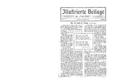 Illustrierte Beilage : zur Freien Presse. 1923-10-28 1. Jg nr 18