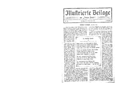 Illustrierte Beilage : zur Freien Presse. 1923-11-11 1. Jg nr 20