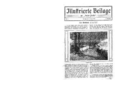 Illustrierte Beilage : zur Freien Presse. 1924-01-06 2. Jg nr 2
