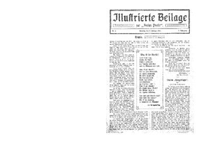 Illustrierte Beilage : zur Freien Presse. 1924-02-03 2. Jg nr 6