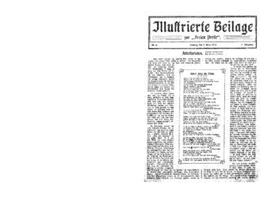 Illustrierte Beilage : zur Freien Presse. 1924-03-09 2. Jg nr 11