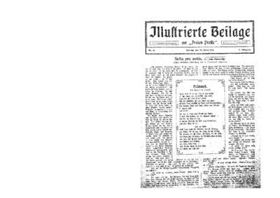 Illustrierte Beilage : zur Freien Presse. 1924-03-30 2. Jg nr 14