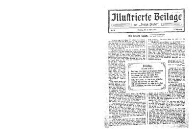 Illustrierte Beilage : zur Freien Presse. 1924-04-13 2. Jg nr 16
