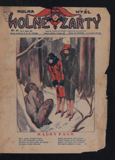 Wolna Myśl Wolne Żarty : tygodnik artystyczno-literacki i satyryczno-humorystyczny. 1927 R. 9 nr 51