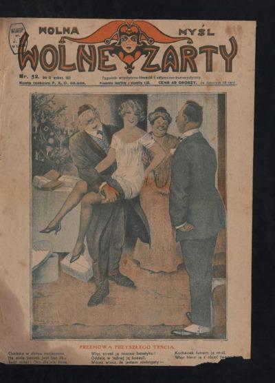 Wolna Myśl Wolne Żarty : tygodnik artystyczno-literacki i satyryczno-humorystyczny. 1927 R. 9 nr 52