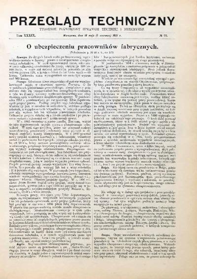 Przegląd Techniczny 1901 nr 22
