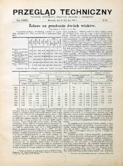 Przegląd Techniczny 1901 nr 30