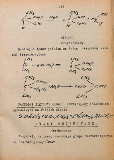 Chemja związków tłuszczowych : wykłady prof. J. Bieleckiego