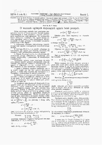 Czasopismo Techniczne 1932 nr 1