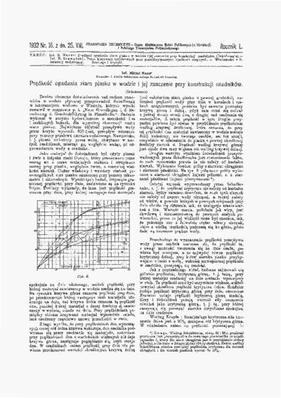 Czasopismo Techniczne 1932 nr 16