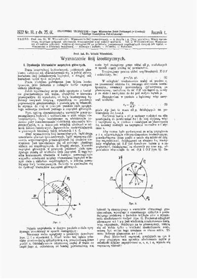 Czasopismo Techniczne 1932 nr 18