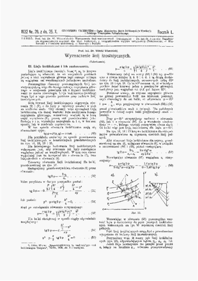Czasopismo Techniczne 1932 nr 20