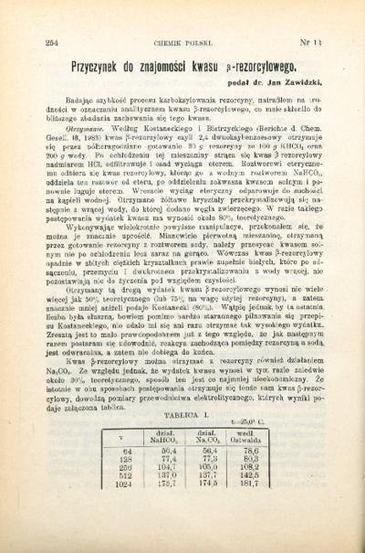 Bibliografia pełnotekstowa wybranych publikacji prof. Jana Zawidzkiego