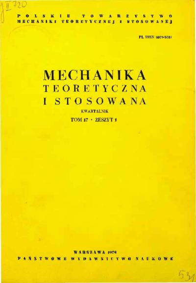 Mechanika Teoretyczna i Stosowana 1979 z. 1
