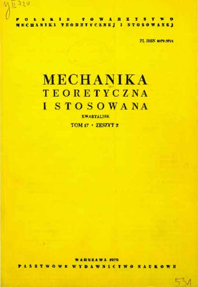 Mechanika Teoretyczna i Stosowana 1979 z. 2