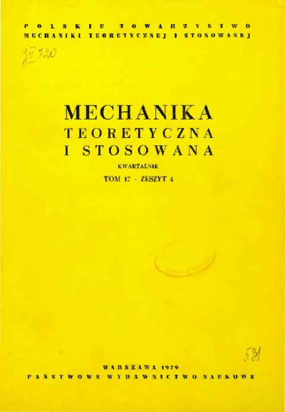 Mechanika Teoretyczna i Stosowana 1979 z. 4