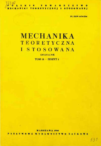 Mechanika Teoretyczna i Stosowana 1980 z. 1