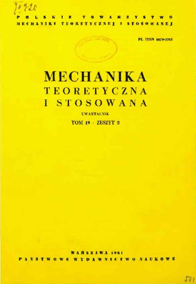 Mechanika Teoretyczna i Stosowana 1981 z. 2