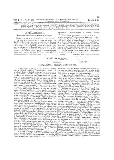 Czasopismo Techniczne 1929 nr 16