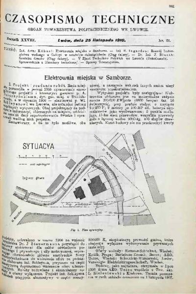 Czasopismo Techniczne 1910 nr 22