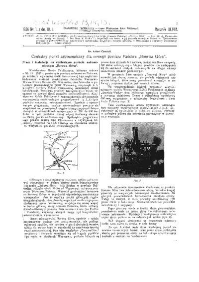 Czasopismo Techniczne 1930 nr 1