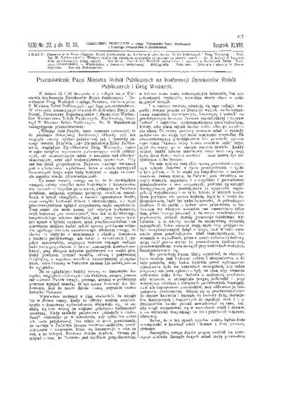 Czasopismo Techniczne 1930 nr 23