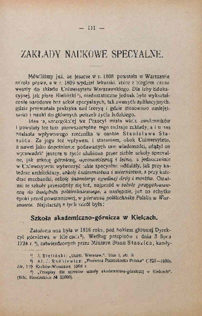 Rys rozwoju chemii w Polsce do roku 1830