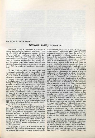 Piśmiennictwo profesora Stefana Bryły - zestawienie bibliograficzne i pełne teksty wybranych publikacji