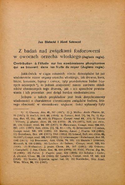 Piśmiennictwo profesora Jana Bieleckiego - zestawienie bibliograficzne i pełne teksty wybranych publikacji