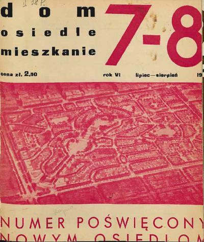 Dom, Osiedle, Mieszkanie 1934 lipiec - sierpień