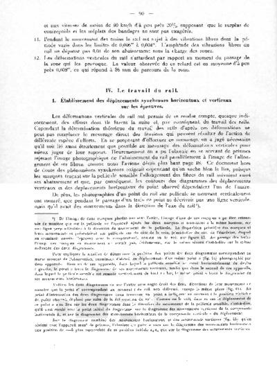Recherches expérimentales sur les déformations élastiques et le travail de la superstructure des chemins de fer