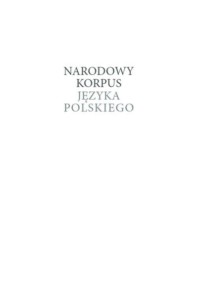 Narodowy Korpus Języka Polskiego
