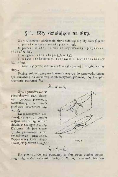Obliczanie słupów elektrycznych : objaśnienia i komentarze do obowiązujących w Polsce Przepisów technicznych na linje elektryczne napowietrzne