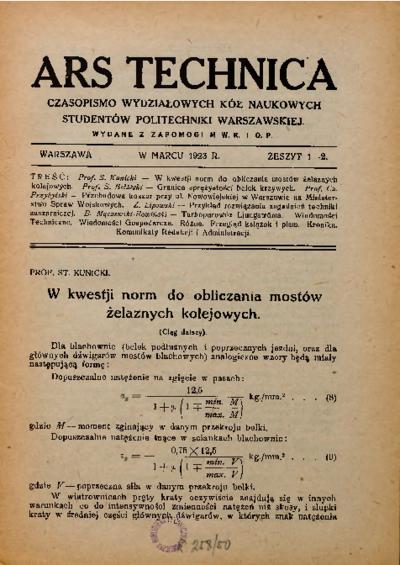 Piśmiennictwo profesora Stanisława Kunickiego - zestawienie bibliograficzne i pełne teksty wybranych publikacji