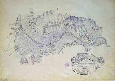 Croquis de las Operaciones militares en los Pueblos Usurbil, Zubieta y Lasarte sobre el Rio Oria, en los dias 27, 28 y 29 y 30 de Enero de 1838 [Material cartográfico]