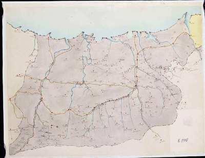 [Mapa itinerario de Guipúzcoa] [Material cartográfico]
