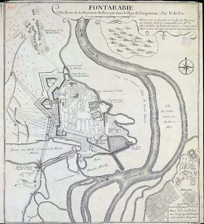 Fontarabie [Material cartográfico] : ville Forte de la Province de Biscaye dans le Pays de Guipuscoa