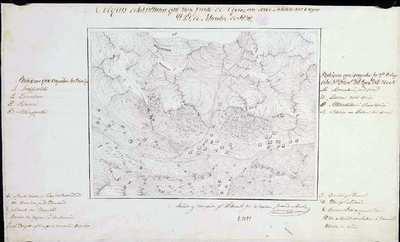 Croquis de las alturas que hay frente de Oyarzun donde salieron las tropas el 21 de Setiembre de 1838 [Material cartográfico]