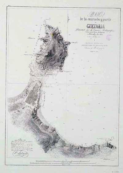 Plano de la ensenada y puerto de Guetaria [Material cartográfico]